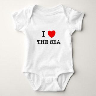 I Love The Sea Baby Bodysuit