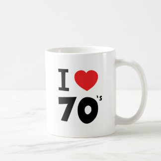 I love the seventies basic white mug