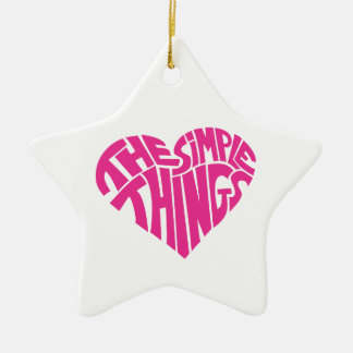 I love the simple things christmas ornament