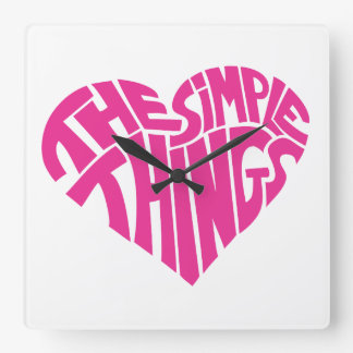 I love the simple things square wall clock