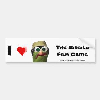 I Love the Singing Film Critic Bumper Stickers