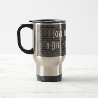 I Love the Smell of 8-Bit in the Morning, Grey Stainless Steel Travel Mug