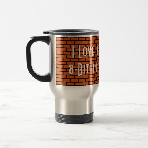 I Love the Smell of 8-Bit in the Morning, Orange Coffee Mug