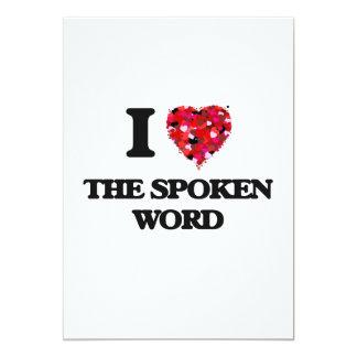 I love The Spoken Word 13 Cm X 18 Cm Invitation Card