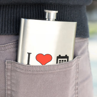 I Love The Start And The End Of School Year Hip Flasks