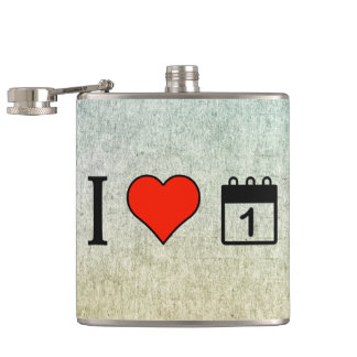 I Love The Start Of The Year Hip Flask