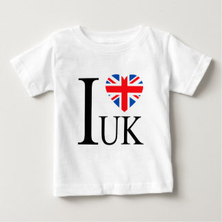 I Love the UK Great Britain Flag Heart Tshirts