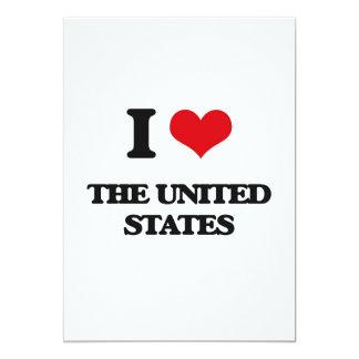 "I love The United States 5"" X 7"" Invitation Card"