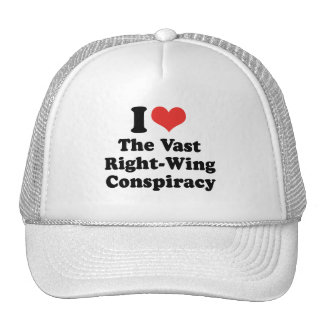 I LOVE THE VAST RIGHT WING CONSPIRACY - .png Mesh Hat