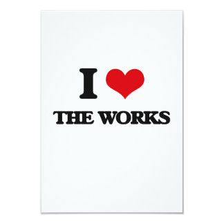 I love The Works 9 Cm X 13 Cm Invitation Card