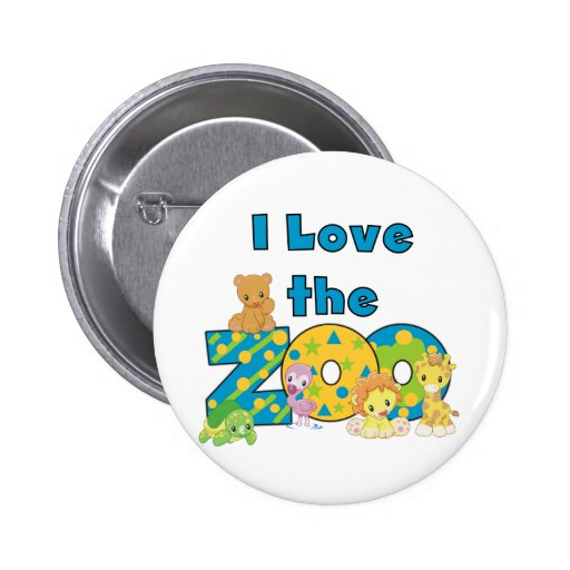 I Love the Zoo Tshirts and Gifts 6 Cm Round Badge