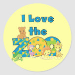 I Love the Zoo Tshirts and Gifts Round Sticker