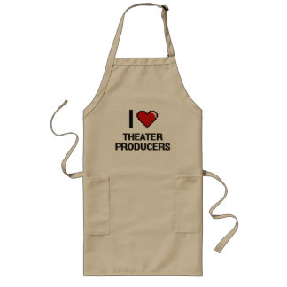 I love Theater Producers Long Apron