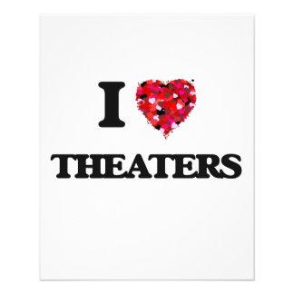 I love Theaters 11.5 Cm X 14 Cm Flyer