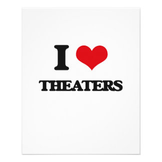 I love Theaters 11.5 Cm X 14 Cm Flyer