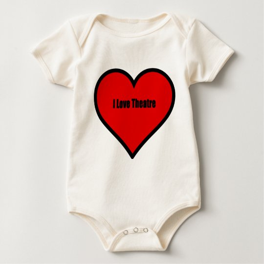 I Love Theatre Baby Bodysuit
