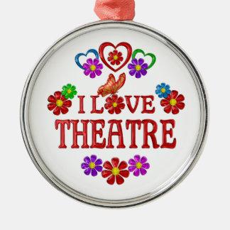 I Love Theatre Christmas Ornament