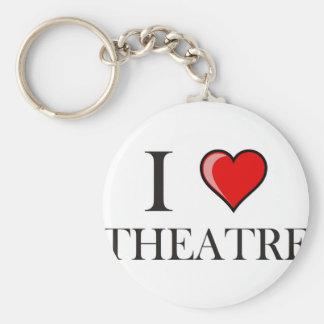 I Love Theatre Key Ring