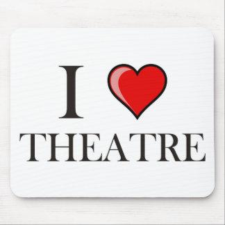 I Love Theatre Mouse Mat