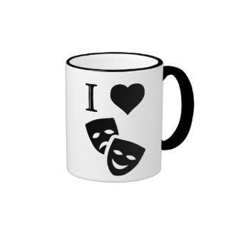 I Love Theatre Ringer Mug