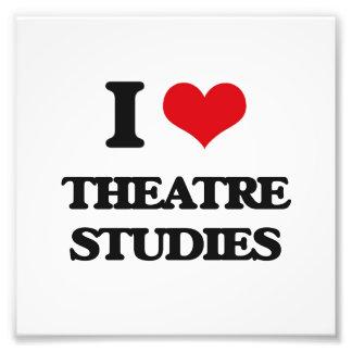 I Love Theatre Studies Photo Print