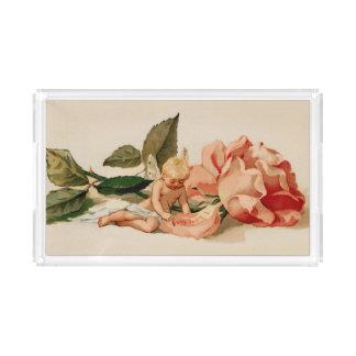 """I love thee"" cupid cherub victorian valentine"