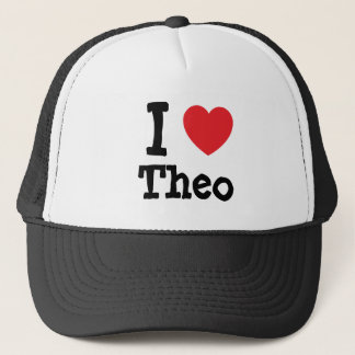 I love Theo heart T-Shirt Trucker Hat