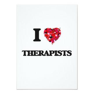 I love Therapists 13 Cm X 18 Cm Invitation Card