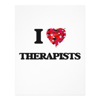 I love Therapists 21.5 Cm X 28 Cm Flyer