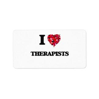 I love Therapists Address Label