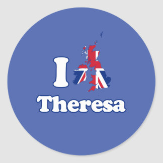 I Love Theresa - GBR -- -  Classic Round Sticker