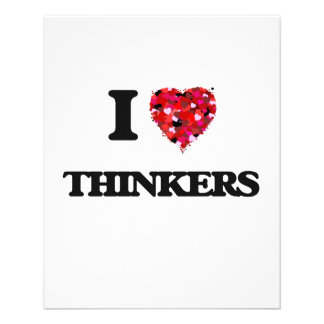 I love Thinkers 11.5 Cm X 14 Cm Flyer