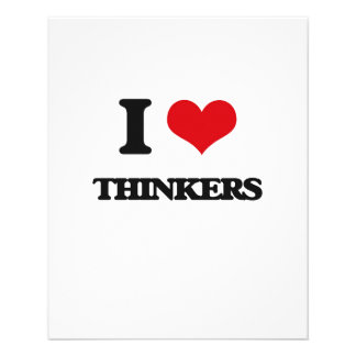 "I love Thinkers 4.5"" X 5.6"" Flyer"