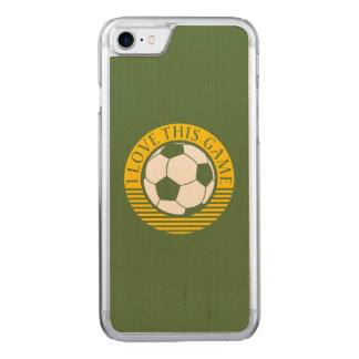 I love this game - soccer / football grunge carved iPhone 8/7 case