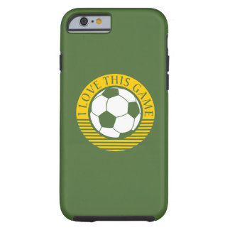 I love this game - soccer / football grunge tough iPhone 6 case