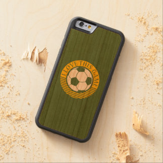 I love this game - soccer / football grunge cherry iPhone 6 bumper case
