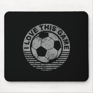 I love this game - soccer / football grunge mouse pad