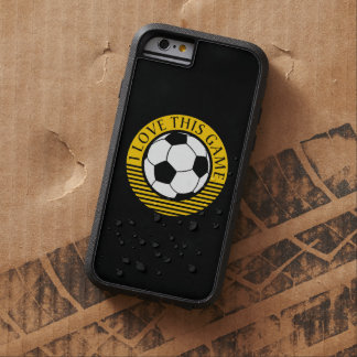 I love this game - soccer / football grunge tough xtreme iPhone 6 case