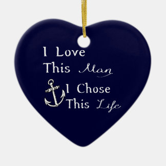 I Love This Man I Chose This Life Christmas Ornament