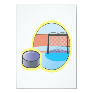 """I Love This Pucking Game 5"""" X 7"""" Invitation Card"""
