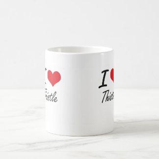 I love Thistle Basic White Mug