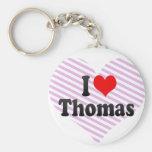 I love Thomas Key Chain