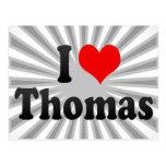 I love Thomas Postcards