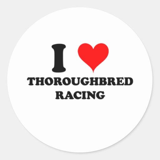 I Love Thoroughbred Racing Sticker