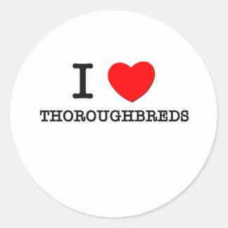 I Love Thoroughbreds (Horses) Sticker