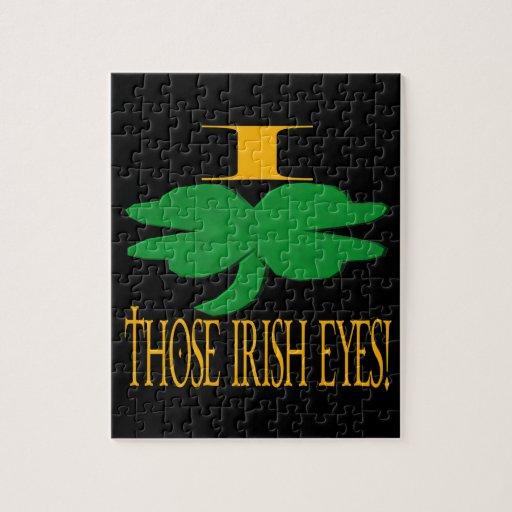 I Love Those Irish Eyes Jigsaw Puzzles