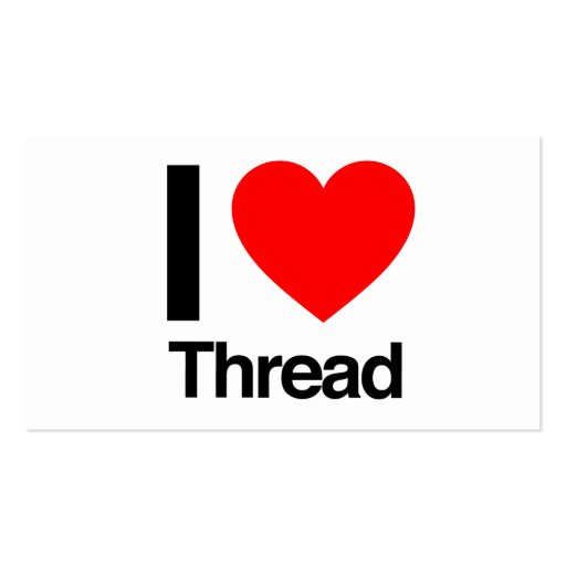 i love thread business card templates