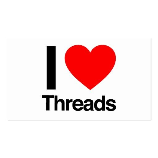 i love threads business card templates