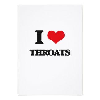I love Throats 13 Cm X 18 Cm Invitation Card
