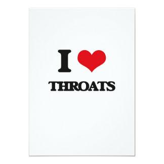 "I love Throats 5"" X 7"" Invitation Card"